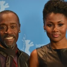 Berlino 2016: Don Cheadle e Emayatzy Corinealdi al photocall di Miles Ahead