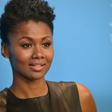 Berlino 2016: un primo piano di Emayatzy Corinealdi al photocall di Miles Ahead