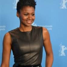 Berlino 2016: Emayatzy Corinealdi al photocall di Miles Ahead