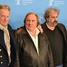 Berlino 2016: Benoît Delépine, Gustave Kervern, Gérard Depardieu, Vincent Lacoste al photocall di Saint Amour