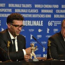 Berlino 2016: Danis Tanović durante la conferenza dei premiati