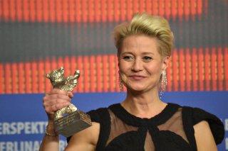 Berlino 2016: Trine Dyrholm durante la conferenza dei premiati