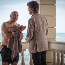 Il commissario Montalbano: Luca Zingaretti e Marco Bocci in una foto dell'episodio Una faccenda delicata
