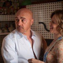 Il commissario Montalbano: Luca Zingaretti e Sonia Bergamasco in una foto dell'episodio Una faccenda delicata