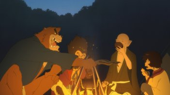 The Boy and the Beast: una scena del film animato
