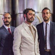 Bianco di Babbudoiu: Stefano Manca, Roberto Fara e Michele Manca in una scena del film