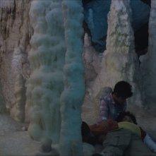 Grotto: Gabriele Fiore, Leonardo Similaro e Samuele Biscossi con Grotto in una scena del film