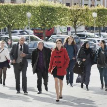 La corte: Sidse Babett Knudsen insieme agli altri membri della giuria in una scena del film