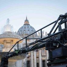 San Pietro e le Basiliche Papali di Roma 3D: un'immagine dal set del documentario