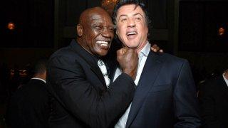 Tony Burton e Sylvester Stallone in un'immagine scherzosa