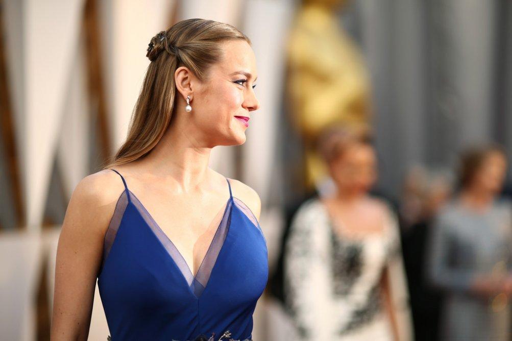 Brie Larson sul tappeto rosso degli Oscar 2016