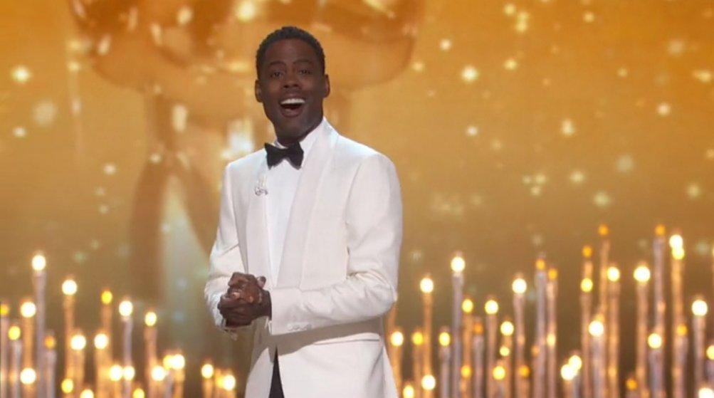 Oscar 2016: Chris Rock durante la conduzione