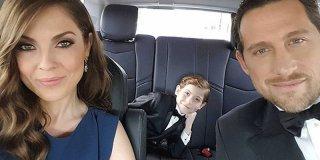 Oscar 2016, il piccolo Jacob Tremblay in auto con i suoi genitori