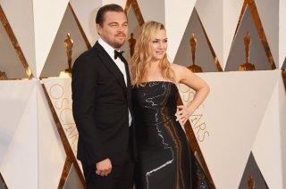 Kate Winslet e Leonardo DiCaprio agli Oscar 2016