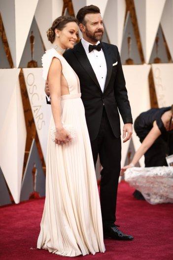 Olivia Wilde con Jason Sudeikis agli Academy Awards 2016