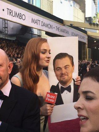 Oscar 2016, Sophie Turner con... DiCaprio