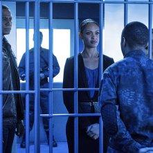 Arrow:Eugene Byrd, David Ramsey, Audrey Marie Anderson, Cynthia Addai-Robinson nell'episodio A.W.O.L.