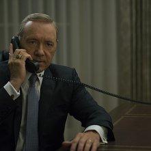 House of Cards: il protagonista Kevin Spacey in una foto della quarta stagione