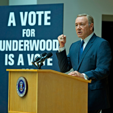 House of Cards: Kevin Spacey è Frank Underwood in una foto della serie