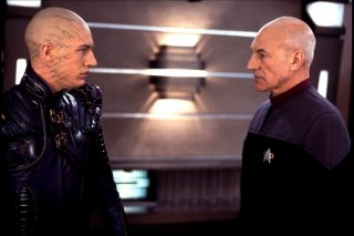 Tom Hardi e Patrick Stewart in Star Trek la nemesi