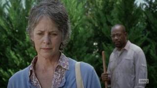 The Walking Dead: Melissa McBride e Lennie James in Not Tomorrow Yet