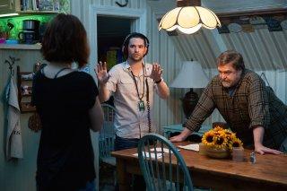 10 Cloverfield Lane: Mary Elizabeth Winstead, John Goodman e il regista Dan Trachtenberg sul set