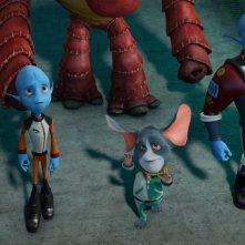 Fuga dal pianeta Terra: un momento del film animato