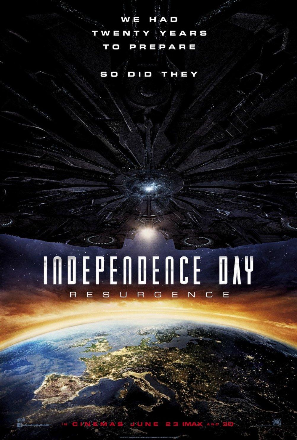 Independence Day: Resurgence - La locandina internazionale del film
