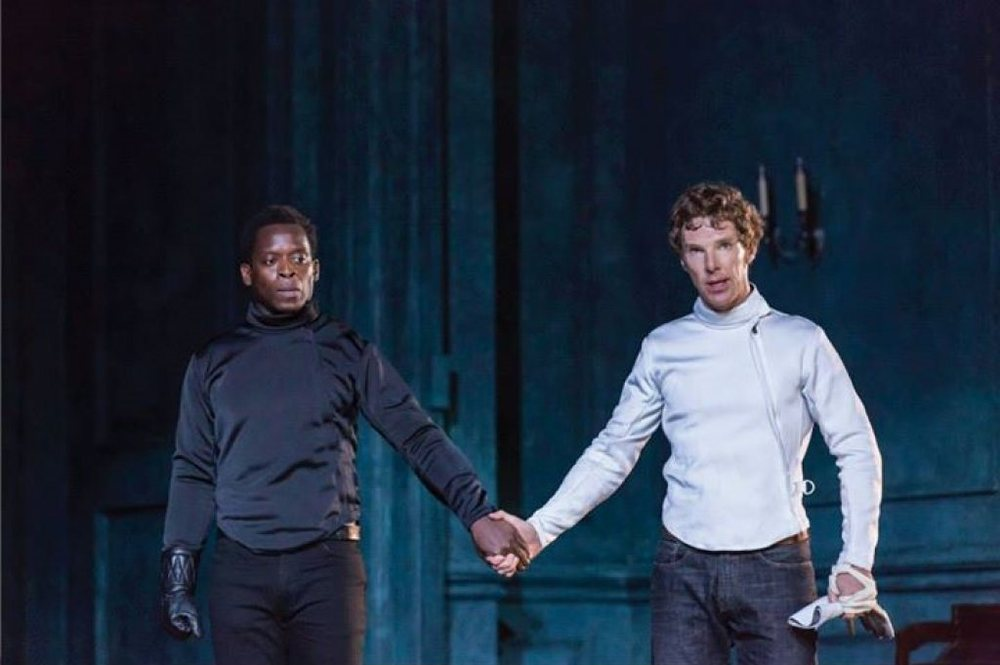 National Theatre Live   Amleto Kobna Holdbrook Smith Benedict Cumberbatch