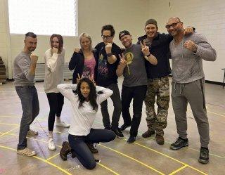 Guardiani della Galassia 2: il cast del film durante le prove
