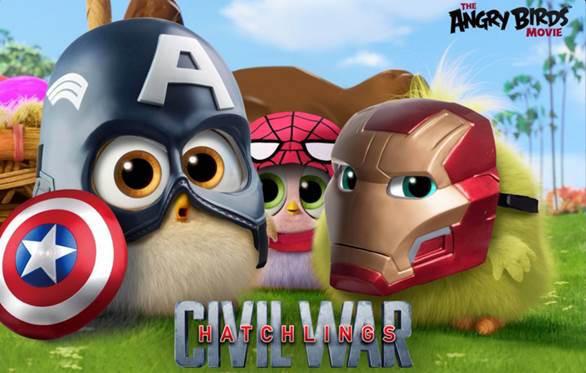 Angry Birds - Il Film - I pulcini in versione Captain America: Civil War