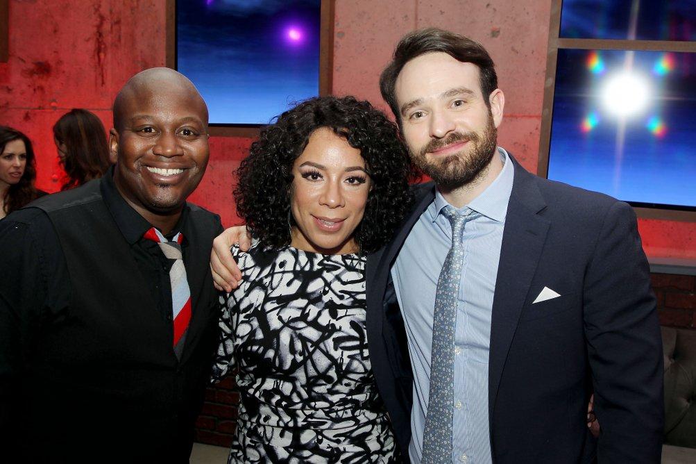 Daredevil: Tituss Burgess, Selenis Leyva, Charlie Cox al party della première della seconda stagione