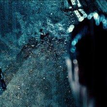 Batman v Superman: Dawn of Justice, Ben Affleck e Henry Cavill in una scena del film