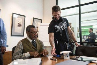 Batman v Superman: Laurence Fishburne e Zack Snyder durante le riprese