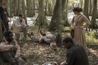 Free State of Jones: Matthew McConaughey, il regista Gary Ross e Gugu Mbatha-Raw sul set del film
