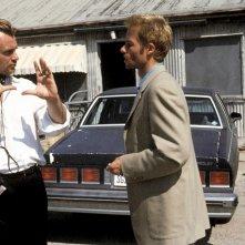 Memento: Guy Pearce e Chistopher Nolan sul set