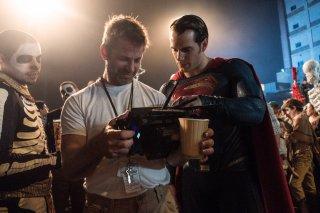 Batman v Superman: Zack Snyder e Henry Cavill durante le riprese