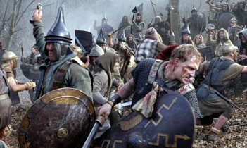Roma: una scena di battaglia della serie HBO