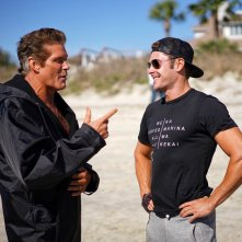 Baywatch: David Hasselhoff e Zac Efron sul set