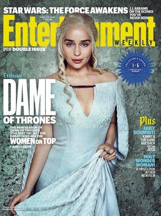 Il trono di Spade 6: Emilia Clarke sulla cover di Entertainment Weekly