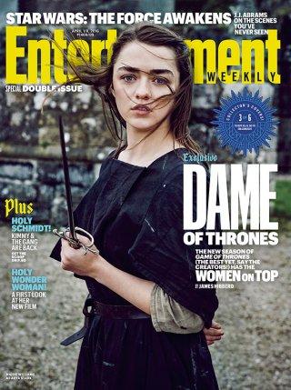 Il trono di Spade 6: Maisie Williams sulla cover di Entertainment Weekly