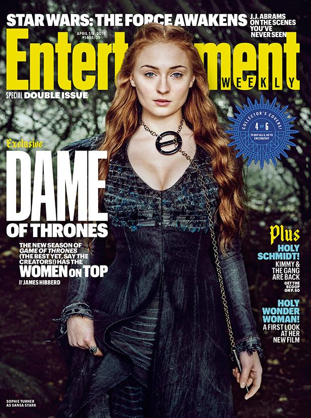 Il trono di Spade 6: Sophie Turner sulla cover di Entertainment Weekly