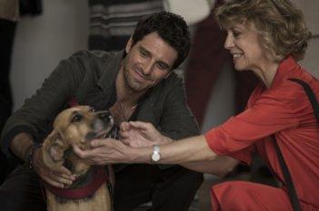 Nemiche per la pelle: Margherita Buy e Giampaolo Morelli in una scena del film