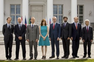 Le confessioni: un'immagine del film che ritrae i ministri del G8 riuniti