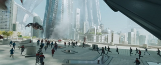 Star Trek Beyond: una scena del film