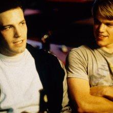 Will Hunting - Genio ribelle: Ben Affleck e Matt Damon in una scena
