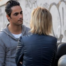Con tutto l'amore che ho: Cristel Carrisi e Fabio Ferrante in una scena del film