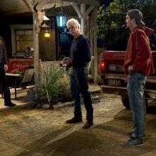 The Ranch: Sam Elliott, Ashton Kutcher e Danny Masterson in una foto della serie