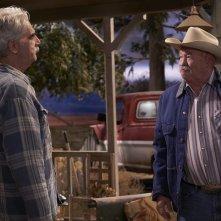 The Ranch: gli attori Sam Elliott e Walter Grant III in una foto della serie