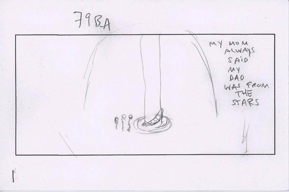 Guardiani della Galassia 2: uno sketch dello storyboard